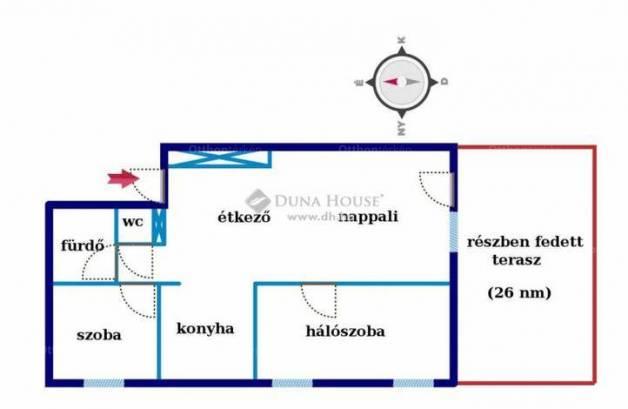 Kecskeméti lakás eladó, 65 négyzetméteres, 3 szobás
