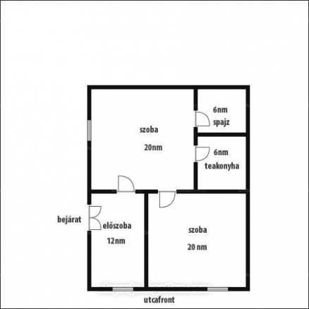 Eladó családi ház Alsózsolca a Zrínyi úton 15-ben, 2 szobás