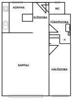 Budapesti lakás eladó, 42 négyzetméteres