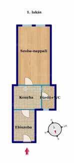 Eladó lakás Erzsébetvárosban, VII. kerület Erzsébet körút, 1 szobás