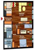 Eladó lakás Budapesten, 2+1 szobás, új építésű