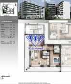 Budapesten eladó új építésű lakás Angyalföldön a Petneházy utcában, 62 négyzetméteres