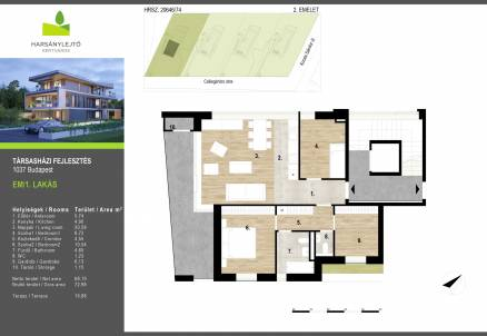 Budapesti új építésű eladó lakás, Csúcshegyen, Borsmenta utca 1.