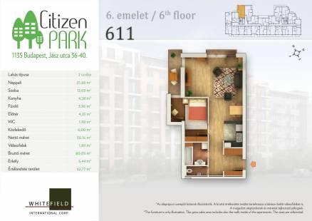 Eladó 2 szobás új építésű lakás Budapest, Jász utca 36.