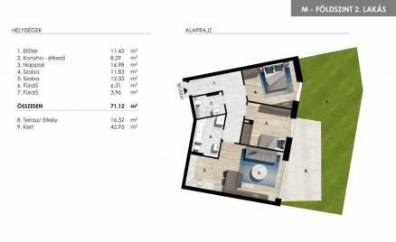 Lakás eladó Balatonföldvár -, 96 négyzetméteres, új építésű
