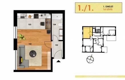 Budapesti új építésű eladó lakás, Józsefvárosban