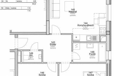 Budapesti új építésű eladó lakás, Palotanegyedben, Baross utca 106.