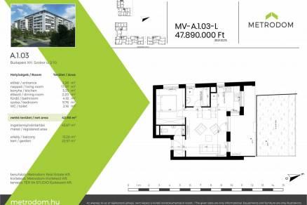 Eladó lakás Budapest, Angyalföld, Szobor utca, 2., új építésű