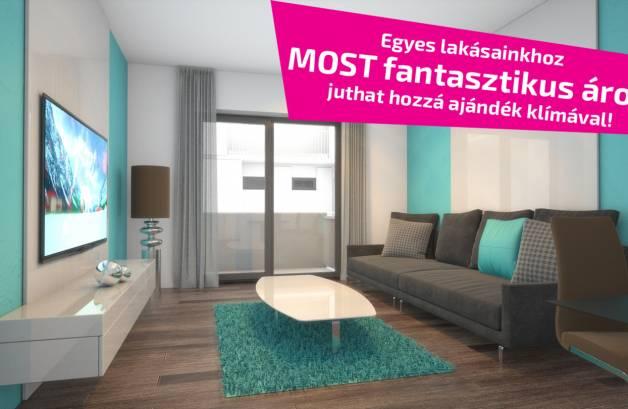 Budapesti új építésű eladó lakás, Rákospalotán, Hubay Jenő tér 8.