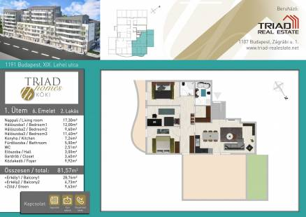 Budapesti új építésű eladó lakás, Kispesten, Lehel utca 6.