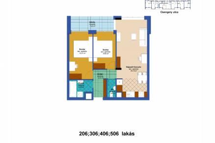 Eladó új építésű lakás Erzsébetvárosban, Csengery utca 22., 2+1 szobás