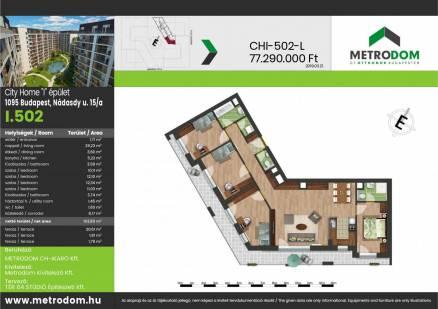 Új Építésű lakás eladó Budapest, Ferencvárosi rehabilitációs terület Nádasdy utca 15., 104 négyzetméteres