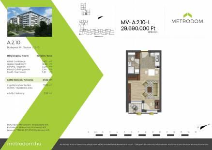 Eladó 1 szobás új építésű lakás Budapest, Szobor utca 2.