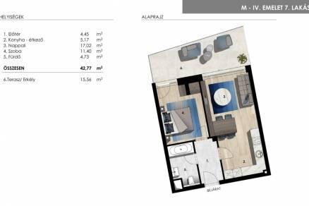 Lakás eladó Balatonföldvár -, 50 négyzetméteres, új építésű