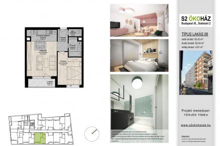 Eladó új építésű lakás Ferencvárosi rehabilitációs területen, Sobieski János utca 2., 2 szobás