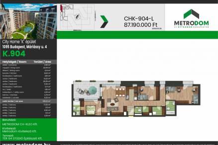 Budapesti lakás eladó, Ferencvárosban, Máriássy utca 4., új építésű