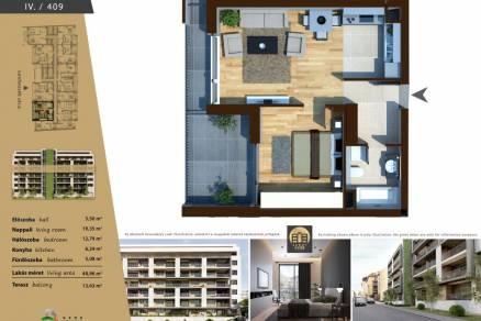 Új Építésű lakás eladó Budapest, Ferencvárosi rehabilitációs terület Lenhossék utca 16., 49 négyzetméteres