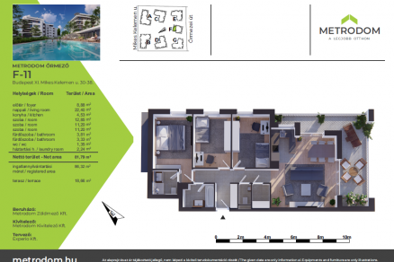 Eladó 3+1 szobás új építésű lakás Budapest, Őrmezei út 33.
