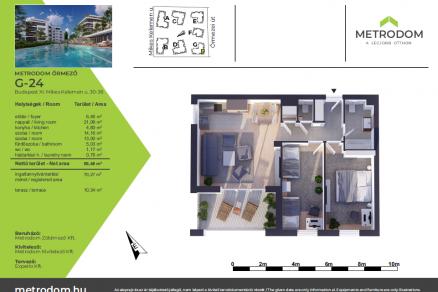 Eladó új építésű lakás Őrmezőn, Őrmezei út 33., 3 szobás