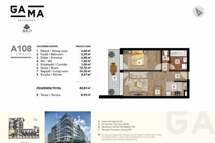 Új Építésű lakás eladó Budapest, Ferencvárosi rehabilitációs terület Márton utca 10., 49 négyzetméteres