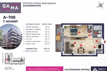 Eladó lakás Budapest, Ferencvárosi rehabilitációs terület, Márton utca, 10., új építésű