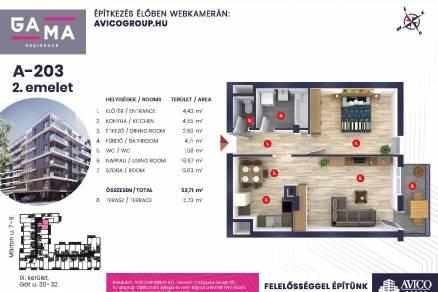 Budapesti új építésű eladó lakás, Ferencvárosi rehabilitációs területen, Márton utca 10.