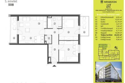 Új Építésű lakás eladó Budapest, Józsefváros Magdolna utca 38., 68 négyzetméteres