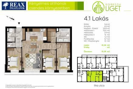 Új Építésű lakás eladó Budapest, Istvánmező Ilka utca 3., 82 négyzetméteres