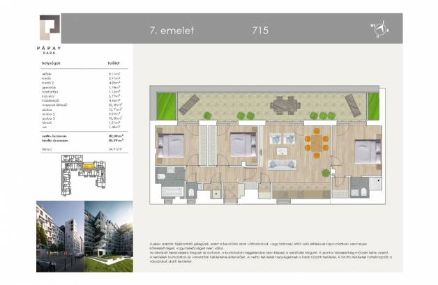 Eladó új építésű lakás Ferencvárosi rehabilitációs területen, Pápay István utca 5., 2+2 szobás