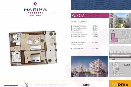 Eladó új építésű lakás Vizafogón, Meder utca 6., 2 szobás