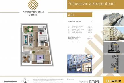 Budapesti új építésű eladó lakás, Józsefvárosban, Bacsó Béla utca 17.